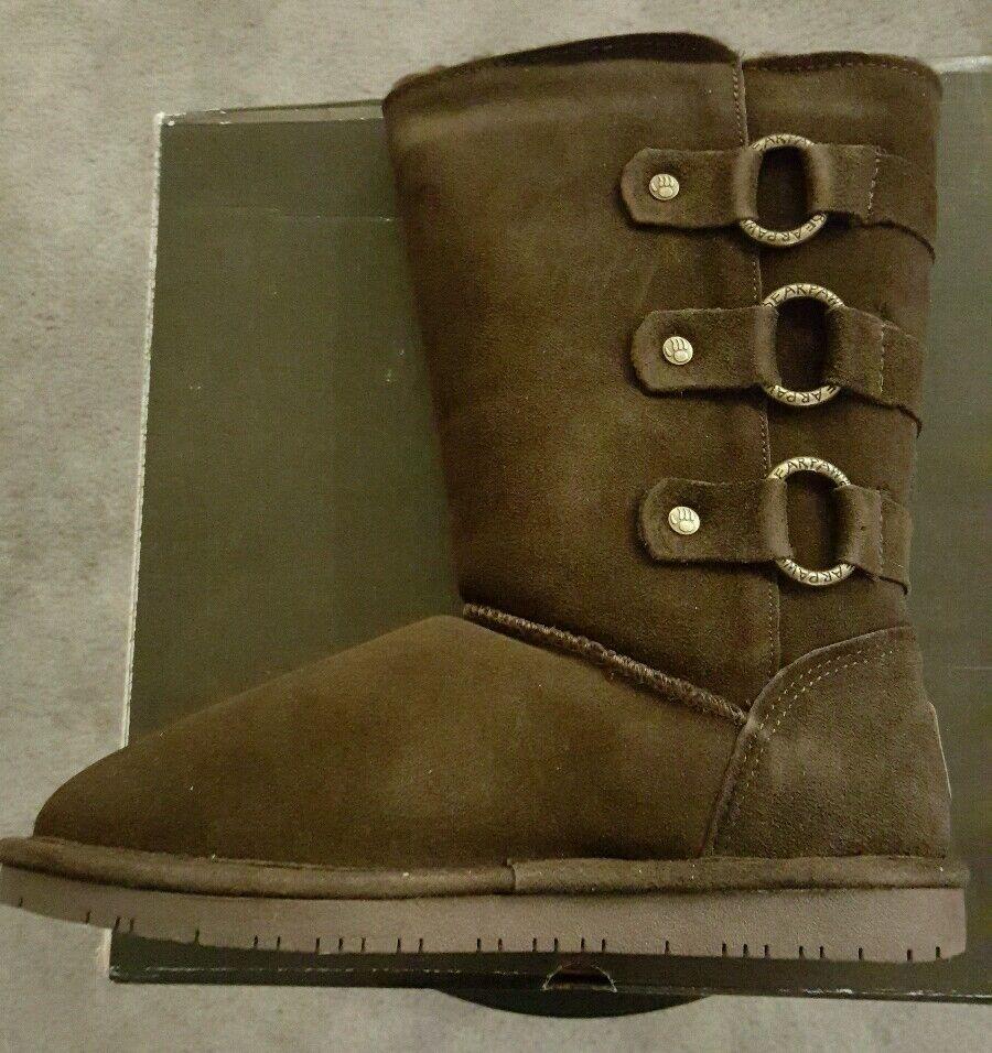 BEARPAW Women's Rue Snow Boot,Choco, 8 M US
