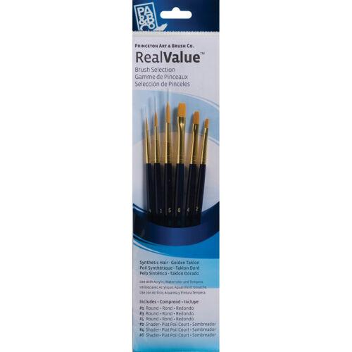 Synthetic Gold Taklon Real Value Brush Set-6//Pkg P9137