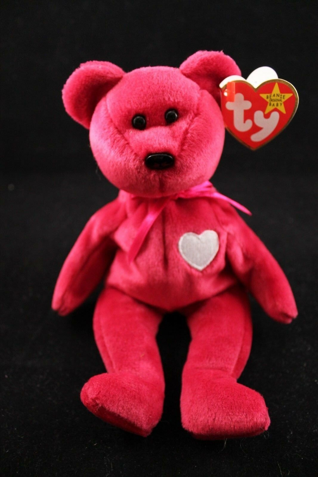 TY Beanie Baby - Retired - Valentina - Bear - With Tag Errors