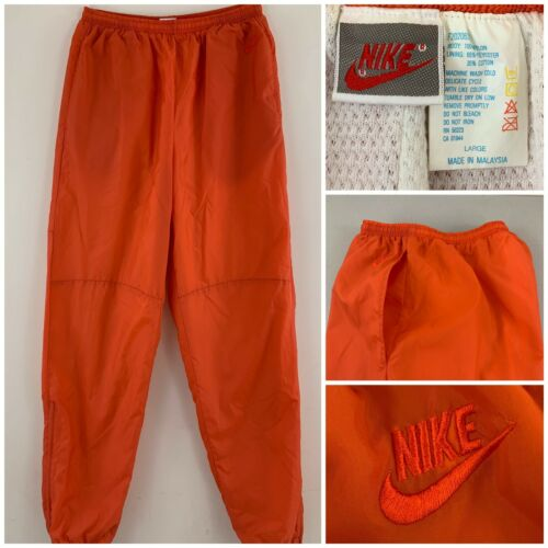 Vintage Nike Mens Large Orange 80s-90s Sweatpants