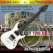 E Guitar String Gitarre 1 Pack 6 saiten Profi Tel. Elektro saz icin de uygundur