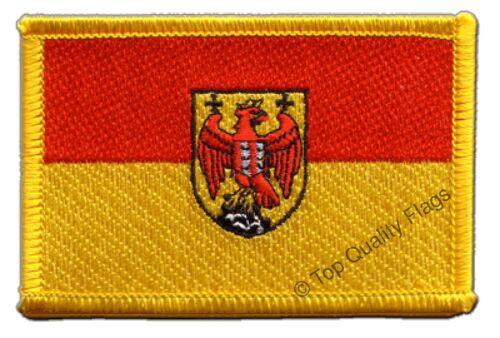 Austria Burgenland Flag EMBROIDERED PATCH 8x6cm Badge