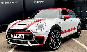 Mini Clubman F54 Bonnet Side And Jcw Style Cornering Decals Stickers