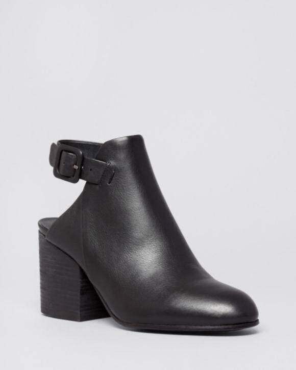 Zapatos de Cuero 9.5 botín botín botín de plataforma Eileen Fisher bonificación de tacón alto Negro Nuevo Con Caja 7c550a