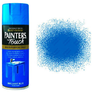 x12 Rust-Oleum Painters Touch Multi-Purpose Spray Paint Brilliant Blue Gloss