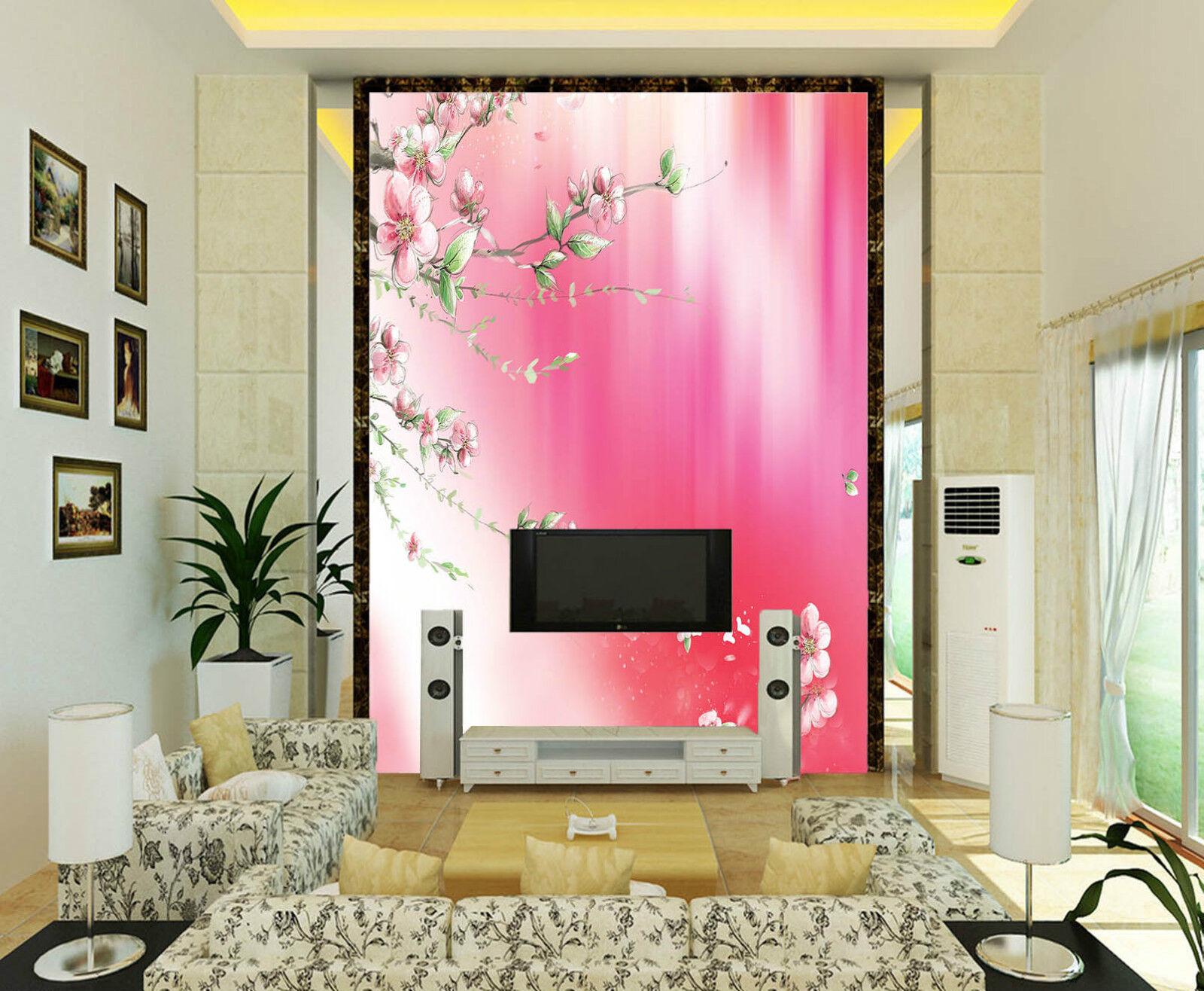 3D Farfalla,Fiore Parete Murale Foto Carta da parati immagine sfondo muro stampa