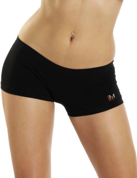 LisaModa Damen Hipster Panty 4er Pack Schwarz Seamless Stretch bequem sportlich