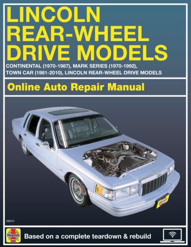 1990 Lincoln Mark VII Haynes Online Repair Manual-Select Access