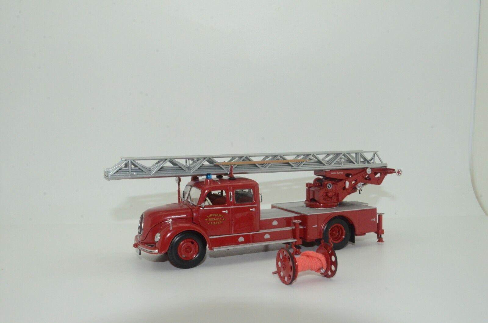 Magirus S 6500 DREHLEITER DL30 Zagreb camión de bomberos 1956 Minichamps 140072 1 43