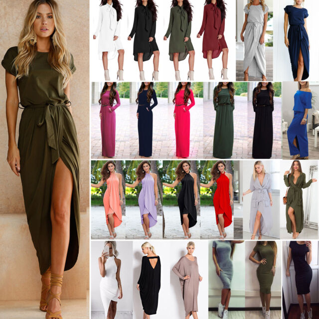Womens Summer Holiday Long Maxi Dress Ladies Evening Party Sun Dresses Plus Size