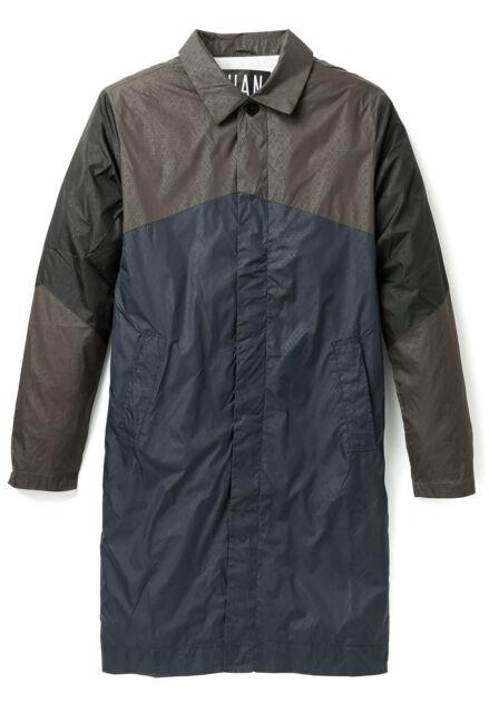 NWT Han Kjobenhavn Track Trench Coat (Navy/Green) RRP $350