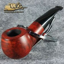 EXCLUSIVE HAND MADE & SMOOTH BRIAR wood smoking pipe * BULLDOG * teak