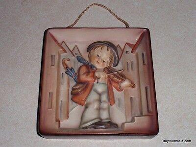 Little Fiddler Goebel Hummel Wall Plaque Figurine #93 TMK3 - CHRISTMAS GIFT!