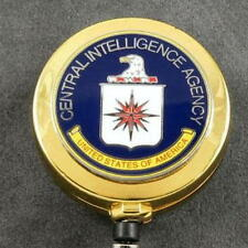 CIA Central Intelligence Agency Security ID Card Holder Retractable Badge Reel
