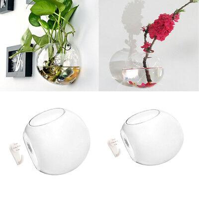4 x Creative Glass Flower Pot Hanging Planter Wall Container Home Art Decor