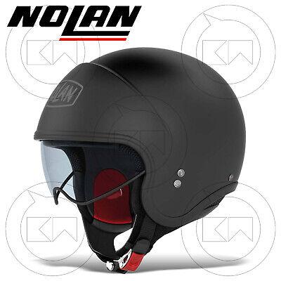 CASCO JET NOLAN N21 CLASSIC 010 FLAT BLACK MONO COLORE NERO OPACO MOTO SCOOTER
