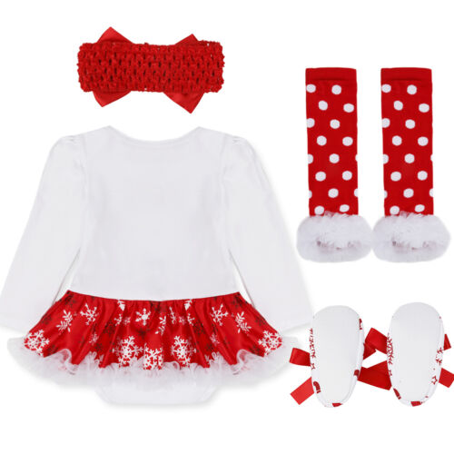 US/_Infant Baby Girls 1st Christmas Romper Outfits Xmas Party Tutu Skirt Clothes