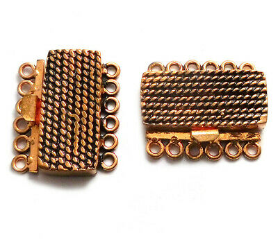 1 PIECES 30X25X7MM BALI BOX CLASP 1 STRAND  OXIDIZED COPPER 212 T31-C207