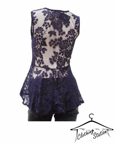 LADIES LACE NAVY PARTY TOP W 02 CODE