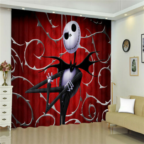 The Nightmare Before Christmas 1 Panel Window Panels 3D Print Window Curtains