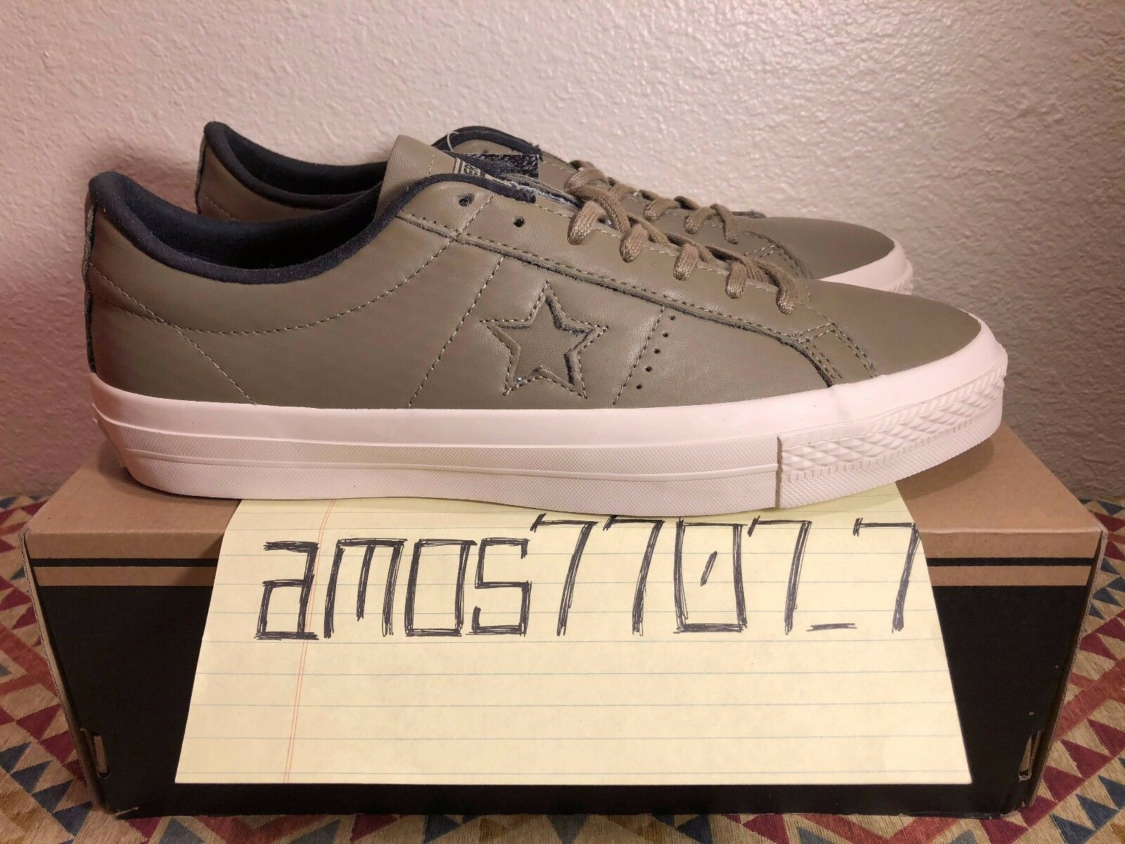 CONS Converse One Star Leather 153707C OX Green Sail White 153707C Leather Men's Size SZ 9 10 e3ed7f