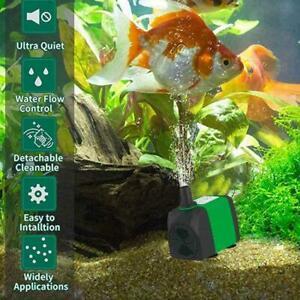 5-20-Watt-Unterwasser-Fischwasserpumpe-Teich-Aquarium-Wasserfall-Brunnen-Su-H3J7