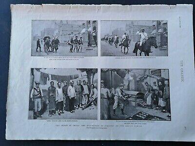Ansichten & Landkarten Tianjin China Tientsin Kenntnisreich 1900...zeitungsdruck 2