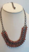Wendy Williams Two Row Bead Statement Necklace Brown