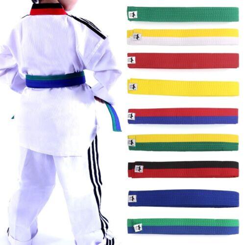 Professional Taekwondo Belt Karate Judo Double Wrap Martial Arts Stripe Sports