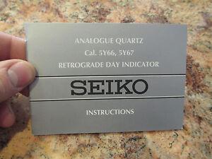 seiko watch owners warranty and instruction manual retrograde day rh ebay com seiko snj007 watch user manual seiko snj007 watch user manual
