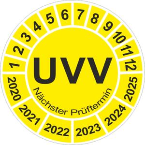 101 Stück UVV Plaketten Nächster Prüftermin Wartung Prüfung BGV 30mm 5068