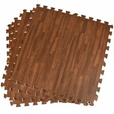 60x60 Eva Soft Foam Interlocking Floor Mats Wood Effect Exercise Gym Play Garage