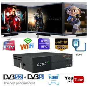 GTMedia-V9-SUPER-H-265-1080P-DVB-S2-Satellite-Receiver-PowerVu-WiFi-HDMI-TV-Box