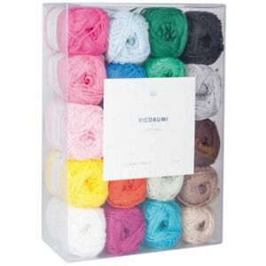 Ricorumi-Baumwollgarne-in-20-Farben-a-25-g-Wolle-Stricken-Haekeln