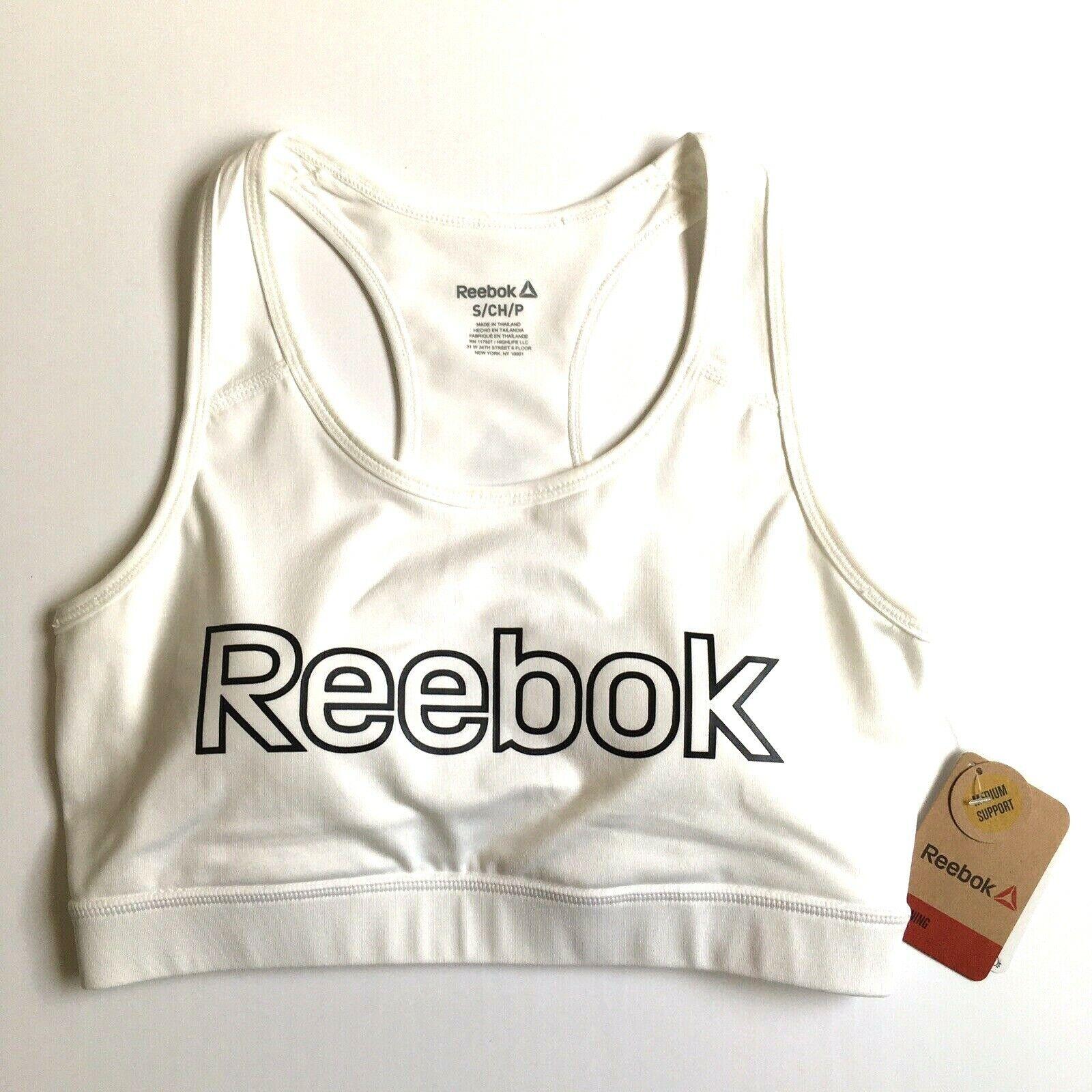 Reebok Women's Sport Bra Top Size S White