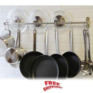 Wall Hanging Pot Rack wall mount pot rack hook stainless steel kitchen hang utensils pan