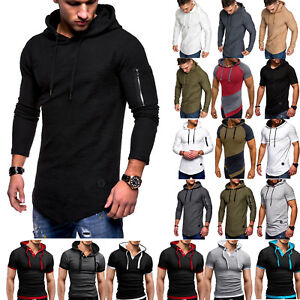 Mens-Slim-Fit-Athletic-Gym-Muscle-Hoodies-T-shirt-Tops-Sports-Long-Sleeve-Blouse