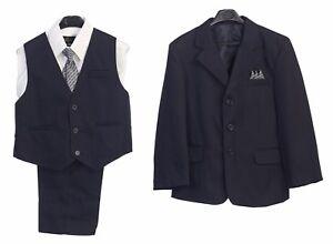 Boys-Suit-Navy-Kids-Clothes-Outfit-Set-Blue-Jacket-Vest-Pants-Dress-Shirt-Tie