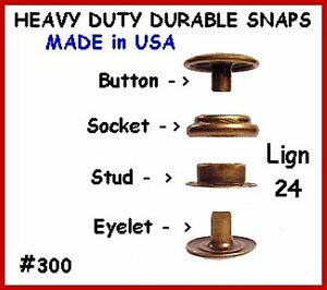 Quality-10-sets-of-Antique-Brass-LEATHER-Canvas-SNAP-Fastener-KIT-w-Tools