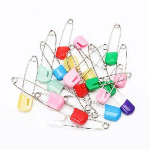 20pc Mixed Coloured Baby Diaper Nappy Cloth Pins Safety Pins Nappies Craft Clips