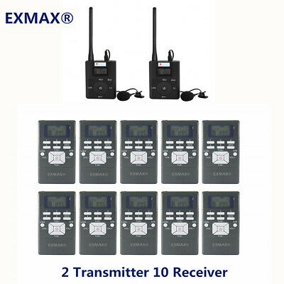 Wireless Tour Guide System 1*FM Transmitter+20Radio Receiver for Guiding Meeting