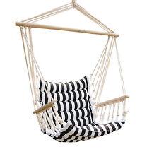 Walcut Patio Hammock Chair Black White For Sale Online Ebay