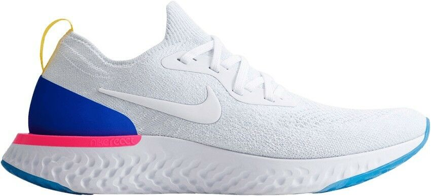 Nike Epic React Flyknit White bluee Red LIMITED - Kids 5.5  Womens 7