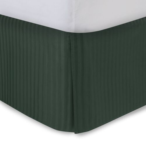 Sateen Stripe Tailored Bed Skirt FAST FREE HOLIDAY SHIPPING 300 Thread Count