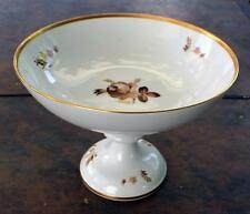 "Vintage ROYAL COPENHAGEN Porcelain BROWN ROSE #688 6""h Compote Footed Cake Plate"
