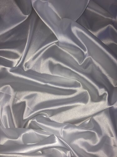 """147cm 1 mtr white lining satin fabric..58"""" wide"""