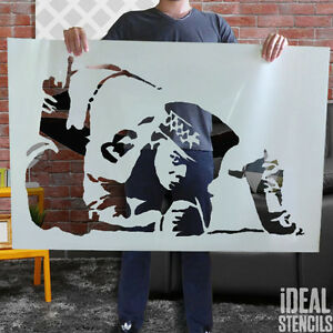 Details About Banksy Stencils Snorting Cocaine Cop Graffiti Life Size Wall Painting Stencil