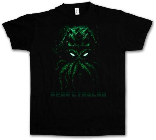 P Lovecraft Miskatonic T-Shirt FEAR CTHULHU T-SHIRT Wars Horror Arkham H