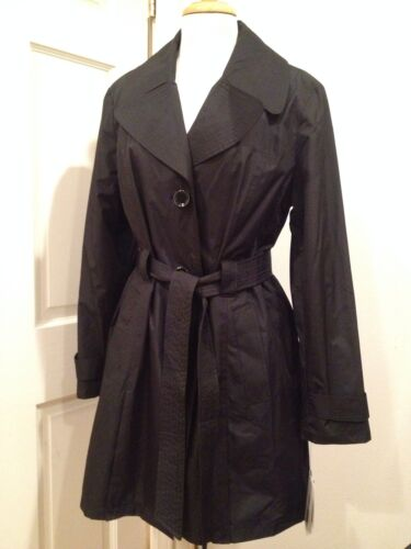 Raincoat Trench L'eau Résistant À Noir Belted London Manteau L Fog Nwt axTwwEqU
