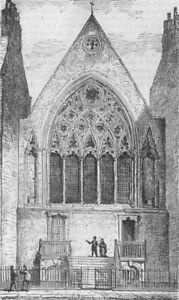 Qualifié London. London. Ely Chapel, Holborn, Antique Print, 1874